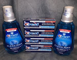 Crest Pro Health Mouthwash & Toothpaste Bundle for Sale in Waldorf, MD