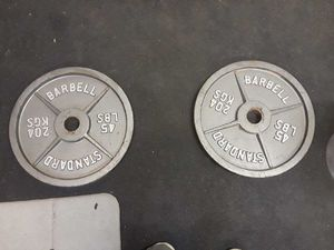 45 lb olympic plates for Sale in Mesa, AZ