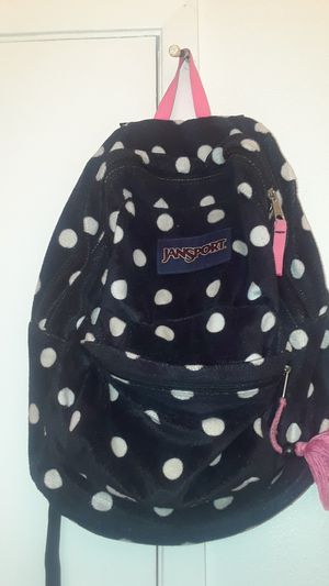 Jansport black, white, and pink backpack for Sale in Davenport, IA