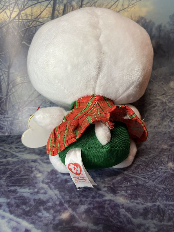 """New Sanrio TY Hello kitty with gingerbread cookie 6"""" plush"""