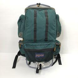 Jansport Vintage Green External Frame Hiking Camping Travel Backpack for Sale in Mundelein,  IL