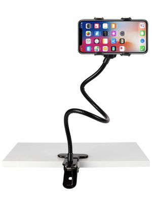 Slopehill Gooseneck Phone Holder for iPhone X XR XS 8 7 Plus Samsung Galaxy S10, Cell Phone Clip Holder for Bedroom Desktop Office Bathroom Kitchen, for Sale in Margate, FL
