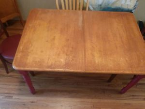 Farm style dining room table with 4 chairs for Sale in Wichita, KS