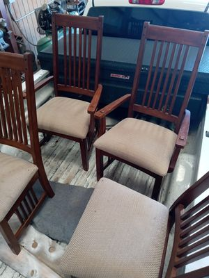 4 dinning chairs TALL back rest. for Sale in Houston, TX