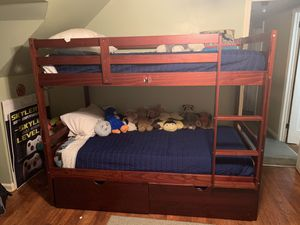 Bunk bed with mattress for Sale in Westbury, NY