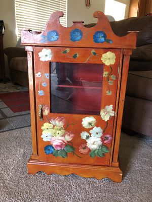 Antique furniture/ wall hanging cabinet for Sale in Salinas, CA