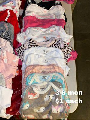 3-6 mon onesies $1 each for Sale in Buena Park, CA