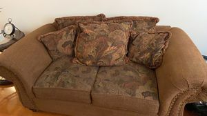 Couch and love seat with 2 end tables center table all for 300 for Sale in Perris, CA