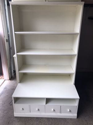 White shelving unit, cabinet made by pottery barn for Sale in Las Vegas, NV