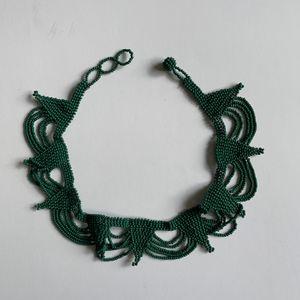 Handmade Emerald Green Beaded Choker for Sale in San Diego, CA