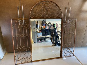 Wrought iron mirror from Z Gallery. Great condition for Sale in San Diego, CA