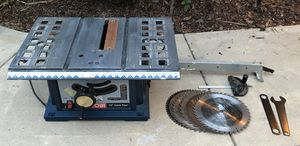 """Ryobi 10"""" Portable Table Saw and Five (5) Carbide Tip Blades for Sale in San Diego, CA"""