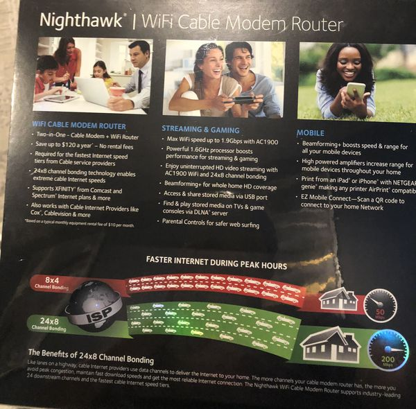 Brand New Nighthawk Cable Modem Router