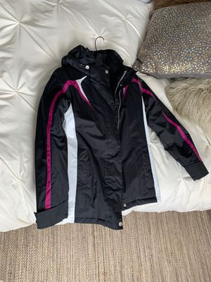 Ladies small black white magenta ski coat jacket new never worn for Sale in Chicago, IL