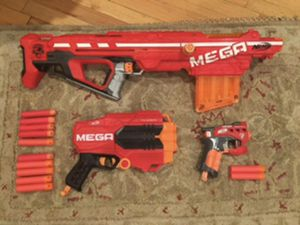 Nerf gun lot with Mega Centurion, Tri-break, and more for Sale in Los Angeles, CA