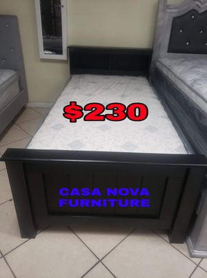 BRAND NEW BED FRAME TWIN 📢📢📢📢MATTRESS INCLUDED 📢📢📢📢📢AVAILABLE FOR SAME DAY DELIVERY OR PICK UP 📢📢📢📢📢 for Sale in Compton, CA