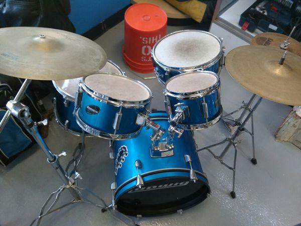 $199.99 - Ludwig 5-PieceJunior Accent CS Combo Drum Set Blue