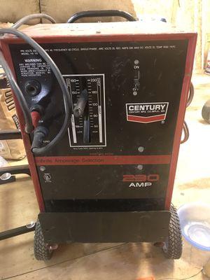 Century welder 210 volts works good stick welder with cart for Sale in Kingston, GA