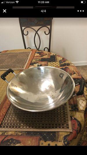 "14 "" stainless steel wok for Sale in Riverside, CA"