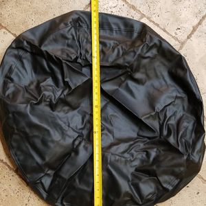 "@CHV BLACK VINYL TIRE COVER FOR VANS OR JEEPS ABOUT 33"" DIAMETER UNSTRETCHED. #57 for Sale in Santa Clarita, CA"