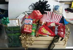 Movie time deluxe gift basket with DVD player for Sale in UPPER ARLNGTN, OH
