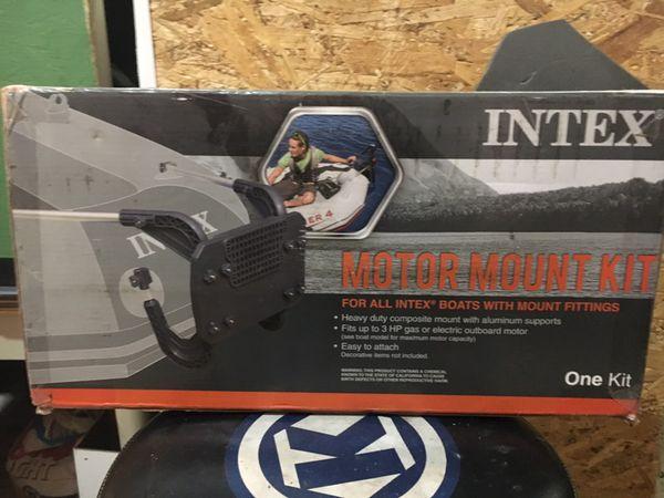 Trolling motor bracket for inflatable boat