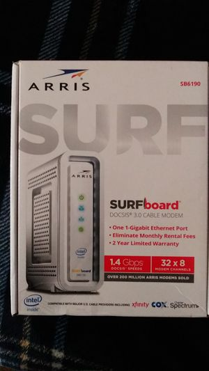 Arris Surfboard DO DID 3.0 CABLE MODEM SB6190 for Sale in Fort Myers, FL