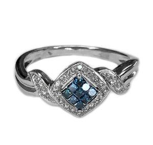 14K White Gold Blue Topaz & Diamond Ring for Sale in Buena Park, CA