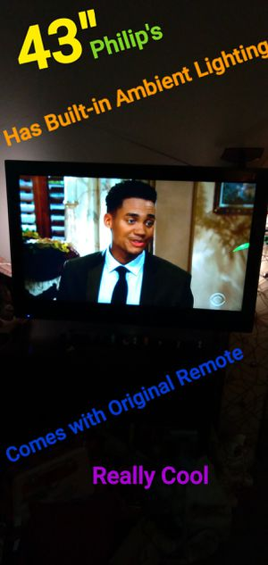 """FIRST $80. TAKES IT .43"""" Philip's 1080p HD TV with Built in Ambient Lighting. - AWESOME CONDITION - PERFECT PRICE. - ZERO PRICE GOUGING for Sale in San Diego, CA"""