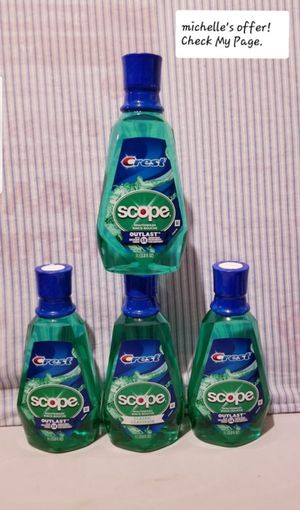 Crest Scope Mouthwash Large 33.8oz Classic clean & Outlast for Sale in Temple Hills, MD