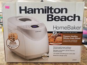 NEW Hamilton Beach Home Baker 2lb Bread Maker: njft hsewres appliances for Sale in Burlington, NJ