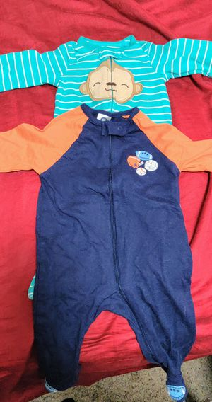 15 pairs of Gerber boy's one piece outfits/pajamas for Sale in Herald, CA