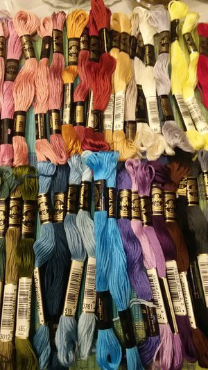 40 pc DMC embroidery floss made in France rainbow of colors for Sale in Long Beach, CA