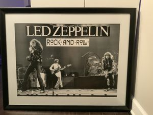 Led Zeppelin Professionally Framed Black and White Print ROCK AND ROLL for Sale in Lisle, IL