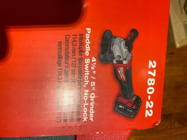4 1/2 grinder paddle switch, no lock 2780-22
