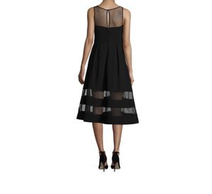 Aidan Dress navy blue crepe mesh fit and flare for Sale in Falls Church, VA