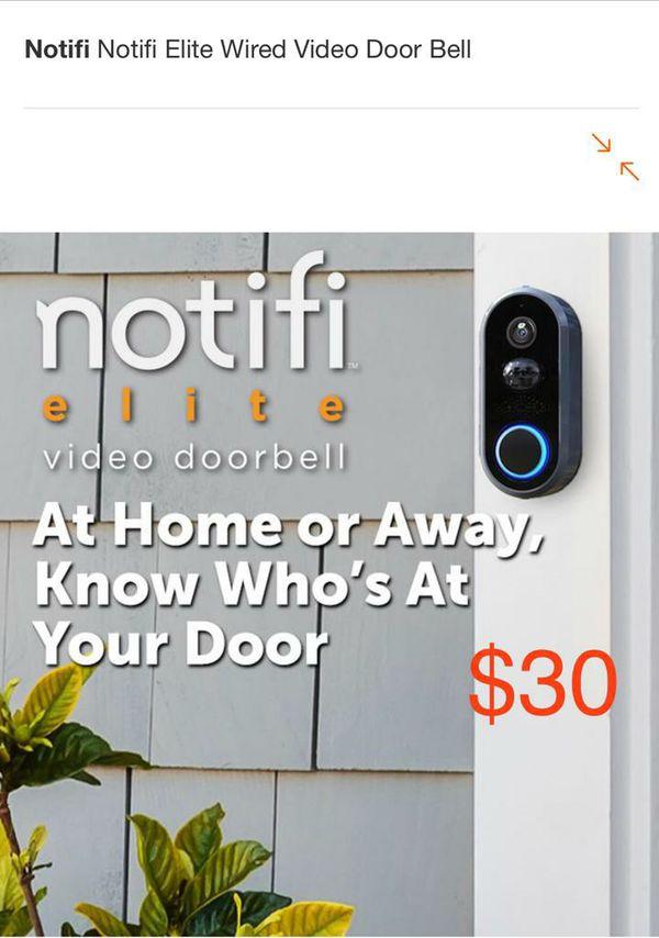 Notifi Elite wired Video Doorbell