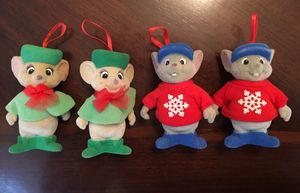 (4) Vintage Disney McDonald's The Rescuers Mouse Felt Christmas Tree Ornaments for Sale in Franklin, TN