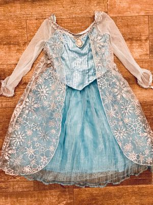Disney - Princess Elsa Dress - 4/5 T for Sale in Grand Island, FL