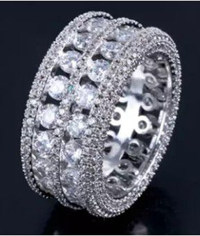 $10 new size 9 silver plated CZ ring for Sale in Ballwin, MO
