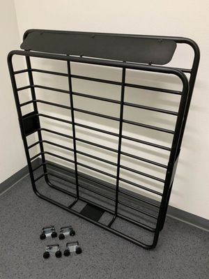 New in box 250 lbs capacity 47x40x7 inches roof basket travel cargo carrier storage rack for suv car 4 mounting brackets included for Sale in Whittier, CA