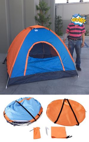 New in box 2 to 3 person 78x78x53 inches outdoor beach camping tent with privacy screen ez pop up design waterproof includes carrying bag emergency s for Sale in West Covina, CA