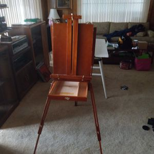 $30 wood and brass *fold-up* portable *art* easel for Sale in Carson, CA
