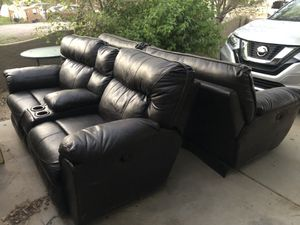 Genuine Leather Recliner Chairs Couch Sofa And loveseat for Sale in Buckeye, AZ