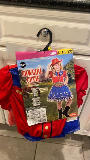 New size 10/12 cowgirl costume for Sale in Chesapeake, VA