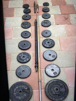 1inch metal plates with 2 bars for Sale in Stockton, CA