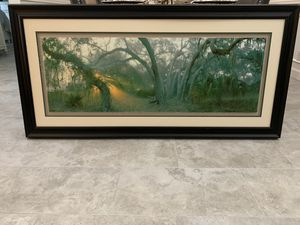 Gorgeous Florida tree & sunrise framed photo for Sale in Coral Springs, FL