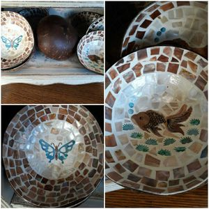 "Coconut Mosiac Inlay 5"" Bowl for Sale in Oroville, CA"