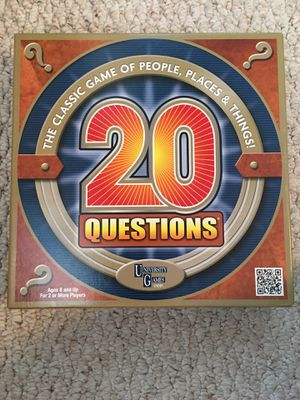 20 Questions Board Game for Sale in Sacramento, CA