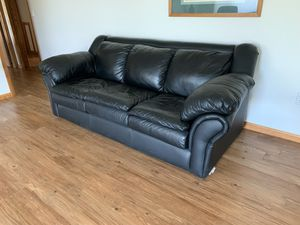 Black leather sofa for Sale in Archer City, TX